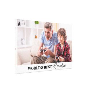 World's Best Grandpa Personalized Photo Canvas
