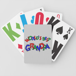 World's Best Grandpa Playing Cards