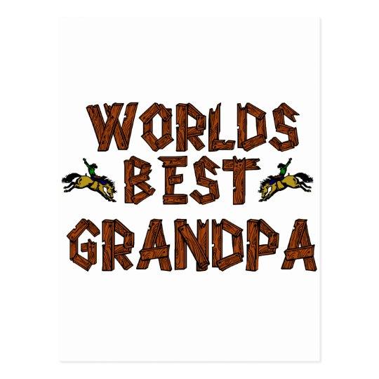 Worlds Best Grandpa Postcard