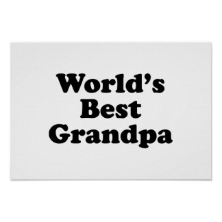 World's Best Grandpa Poster