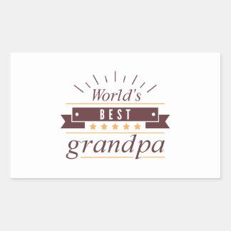 World's Best Grandpa Rectangular Sticker