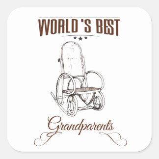 World's best grandpa square sticker