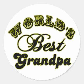 World's Best Grandpa Stickers