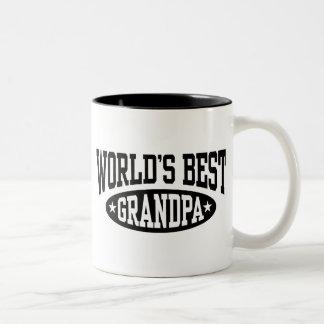 World's Best Grandpa Two-Tone Coffee Mug