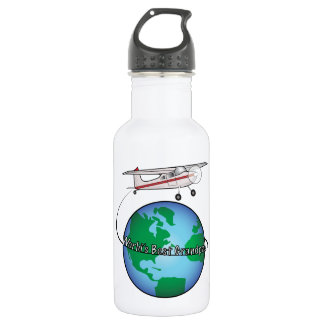 World's Best Grandpa with Airplane Water Bottle