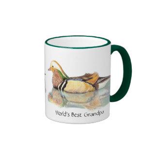World's Best Grandpa  Wood duck, Nature, Bird Ringer Mug