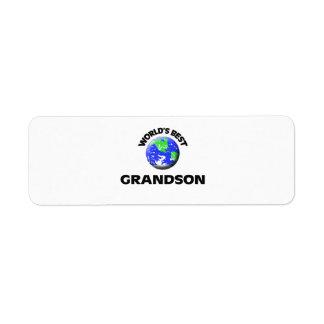 World's Best Grandson Return Address Label