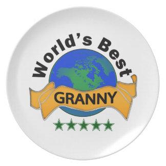 World's Best Granny Dinner Plate