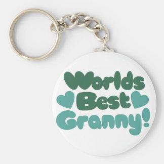 Worlds Best Granny Keychain