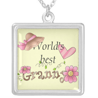 World's Best Granny, Sterling Silver Necklace