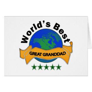 World's Best Great Granddad Card
