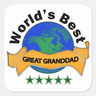 World's Best Great Granddad Square Sticker