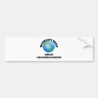 World's Best Great Granddaughter Bumper Sticker