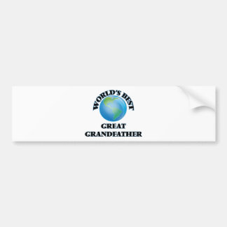 World's Best Great Grandfather Bumper Sticker