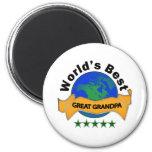 World's Best Great Grandma 2 Inch Round Magnet