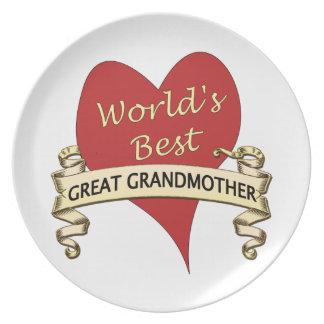 World's Best Great Grandma Dinner Plate