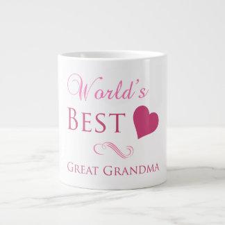 World's Best Great Grandma (Heart) Giant Coffee Mug