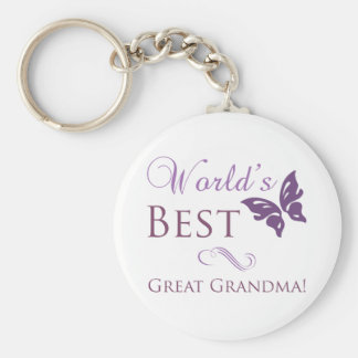 World's Best Great Grandma Keychain