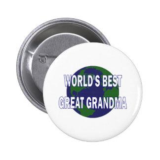World's Best Great Grandma Pinback Button