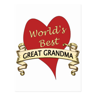 World's Best Great Grandma Postcard