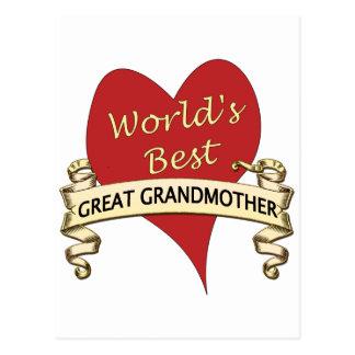 World's Best Great Grandma Postcard
