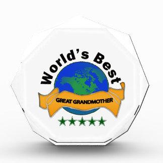 World's Best Great Grandmother Acrylic Award