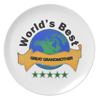 World's Best Great Grandmother Dinner Plate
