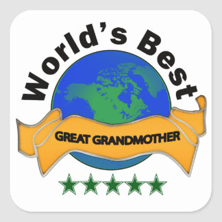 World's Best Great Grandmother Square Sticker