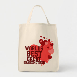Worlds Best Great Grandmother Tote Bag