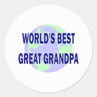 World's Best Great Grandpa Classic Round Sticker
