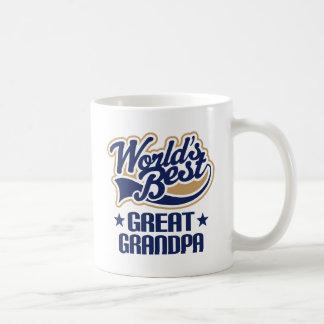 Worlds Best Great Grandpa Classic White Coffee Mug