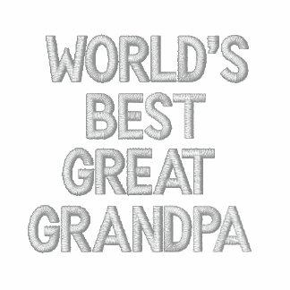 World's Best Great Grandpa Embroidered Hooded Sweatshirt