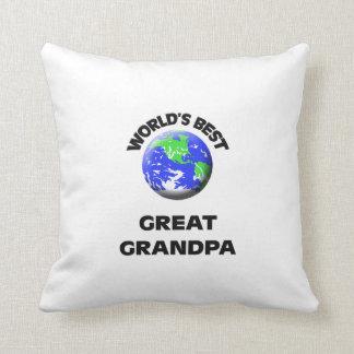 World's Best Great Grandpa Throw Pillow