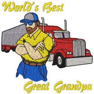 World's Best Great Grandpa Truck Embroidered Shirt