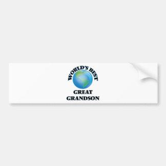 World's Best Great Grandson Bumper Stickers