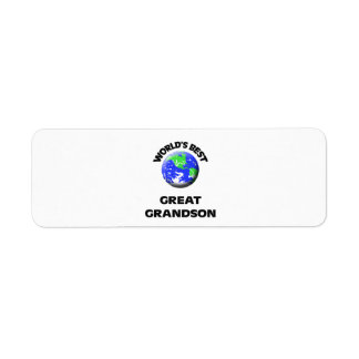 World's Best Great Grandson Return Address Label