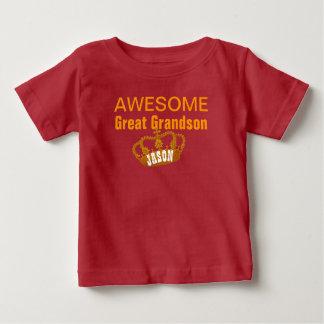 World's Best GREAT GRANDSON Vintage Gold Crown A19 Baby T-Shirt