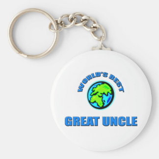 World's Best Great Uncle Keychain