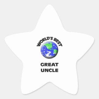 World's Best Great Uncle Star Sticker