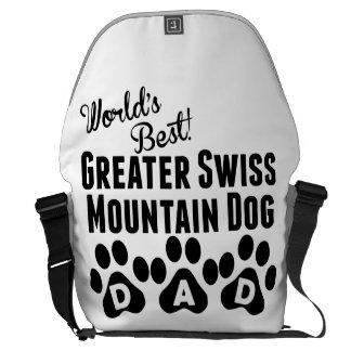 World's Best Greater Swiss Mountain Dog Dad Messenger Bags