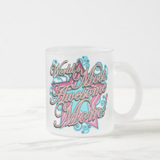 Worlds Best Greatest Mom Frosted Glass Coffee Mug