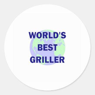 World's Best Griller Classic Round Sticker