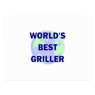 World's Best Griller Postcard
