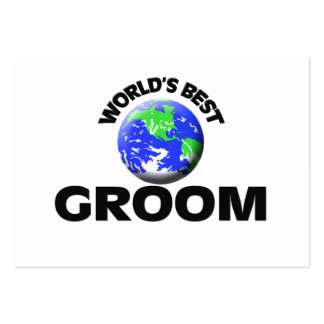 World's Best Groom Large Business Cards (Pack Of 100)