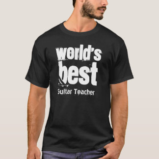 World's Best Guitar Teacher Grunge Letters T-Shirt