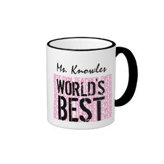 World's Best Gym Teacher Ever Gift V17 Ringer Mug