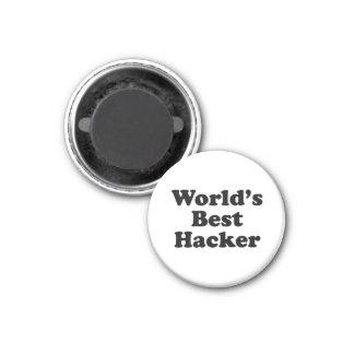 World's Best Hacker 1 Inch Round Magnet