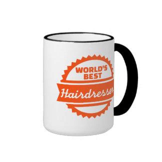 World's best Hairdresser Ringer Mug
