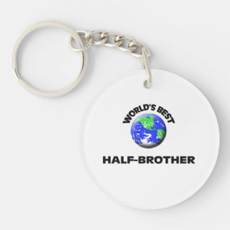World's Best Half-Brother Single-Sided Round Acrylic Keychain