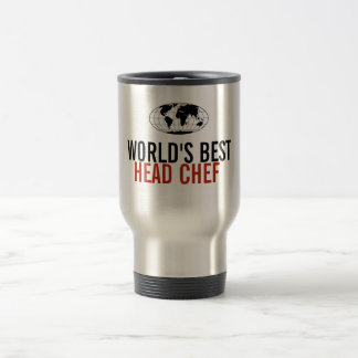 World's Best Head Chef 15 Oz Stainless Steel Travel Mug